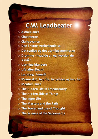 Menu-Litteratur-C-W-Leadbeater
